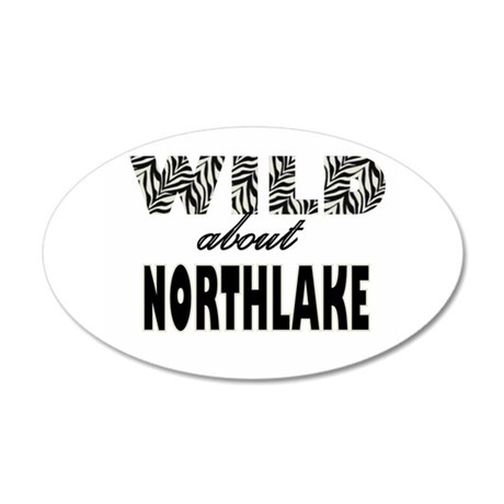 Wild About Northlake 38.5 x 24.5 Oval Wall Peel