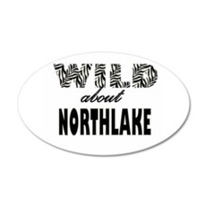 Wild About Northlake 22x14 Oval Wall Peel
