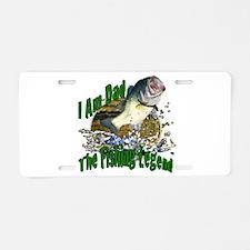Dad Bass legend Aluminum License Plate