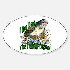 Dad Bass legend Sticker (Oval)