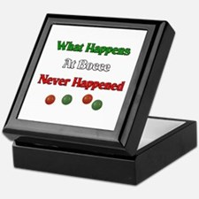What happens at bocce never happened Keepsake Box