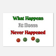 What happens at bocce never happened Postcards (Pa