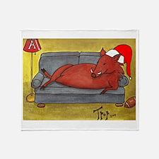 Arkansas Razorback Christmas Throw Blanket