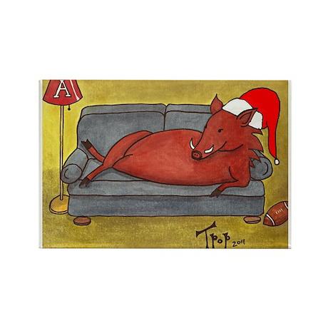 Arkansas Razorback Christmas Rectangle Magnet (100