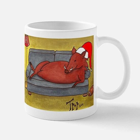 Arkansas Razorback Christmas Mug