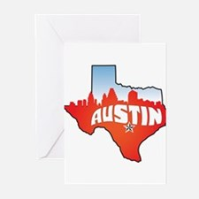 Austin Texas Skyline Greeting Cards (Pk of 20)