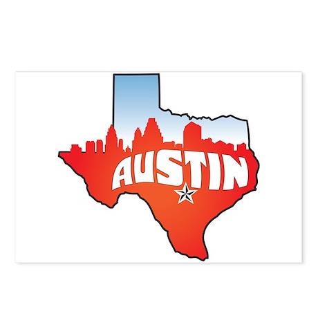 Austin Texas Skyline Postcards (Package of 8)
