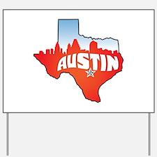 Austin Texas Skyline Yard Sign