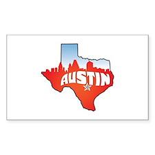 Austin Texas Skyline Decal