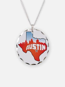 Austin Texas Skyline Necklace