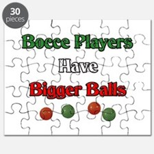 Bocce players have bigger balls. Puzzle