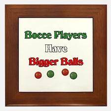 Bocce players have bigger balls. Framed Tile