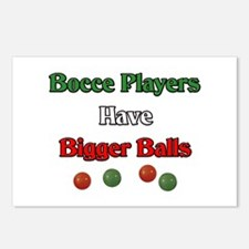 Bocce players have bigger balls. Postcards (Packag