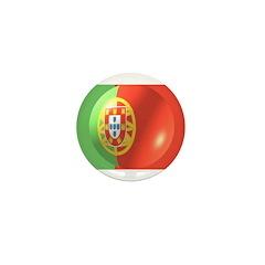 Portuguese Flag Design Mini Button (100 pack)