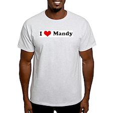 I Love Mandy Ash Grey T-Shirt