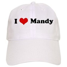 I Love Mandy Baseball Cap