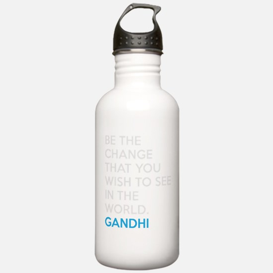 Be the Change Gandhi Quote Water Bottle
