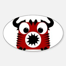 Cute Little Devil Sticker (Oval)