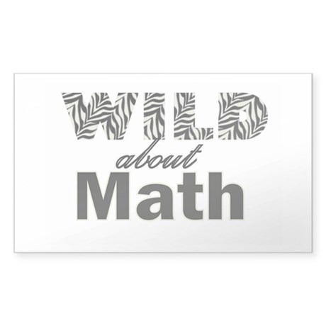 Wild About Math Sticker (Rectangle)