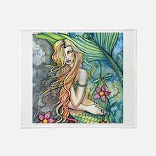 Colorful Mermaid Throw Blanket