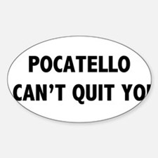 Cute Pocatello Sticker (Oval)