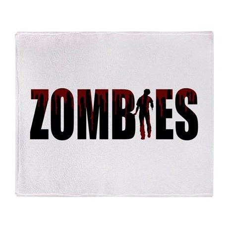 Zombies Throw Blanket