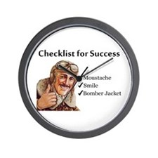 Checklist for Success - Moust Wall Clock