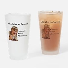Checklist for Success - Moust Drinking Glass