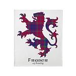 Lion - Fraser of Reelig Throw Blanket