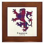 Lion - Fraser of Reelig Framed Tile