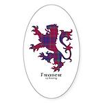 Lion - Fraser of Reelig Sticker (Oval 50 pk)