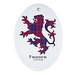 Lion - Fraser of Reelig Ornament (Oval)