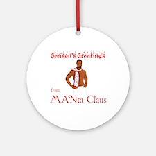 Manta Claus Ornament (Round)