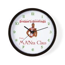 Manta Claus Wall Clock