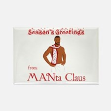 Manta Claus Rectangle Magnet