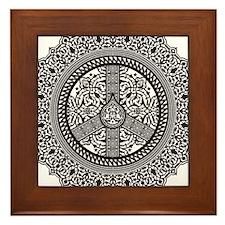 Peace Arabesque Framed Tile