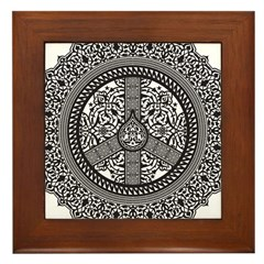 Peace Arabesque Framed Tile