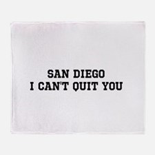 San Diego I Can't Quit You Throw Blanket