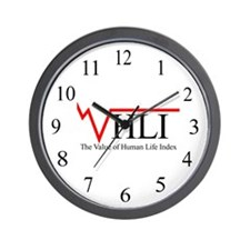 The Value of Human Life Index Wall Clock