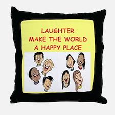 laughter Throw Pillow