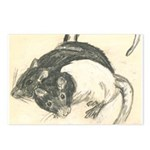 Two Tone Rats Postcards (Package of 8)