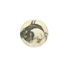 Two Tone Rats Mini Button (100 pack)