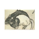 Two Tone Rats Rectangle Magnet (100 pack)