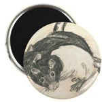 Two Tone Rats Magnet