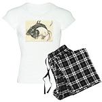 Two Tone Rats Women's Light Pajamas