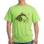 Two Tone Rats Green T-Shirt