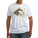 Two Tone Rats Fitted T-Shirt