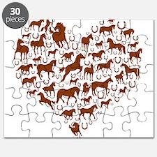 Horses & Ponies Heart Puzzle
