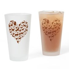 Horses & Ponies Heart Drinking Glass