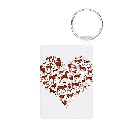 Horses & Ponies Heart Aluminum Photo Keychain